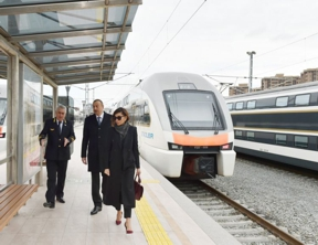 Azerbaijani president attends opening of newly renovated Baku Railway Station - UPDATED
